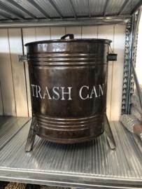 Metalen prullenbak pedaalemmer met deksel industrieel trash can