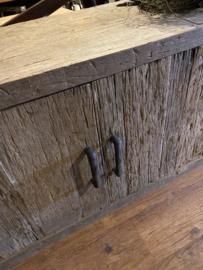 Stoer railway houten tv-meubel dressoir sidetable televisiekast kast 200 x 45 x H55 cm wandmeubel landelijk industrieel