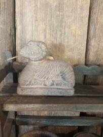 Klein mini stenen ram rammetje bok landelijk stoer beige grijs