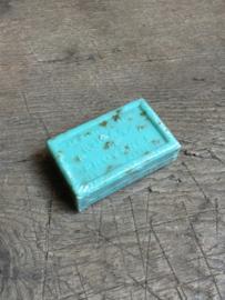 Lekker stuk savon de Marseille pur vegetal menthe turkoois zeegroen stuk zeep 125 gram