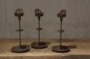 Stoere metalen kandelaar voor kleine stompkaars of theelicht industrieel landelijk