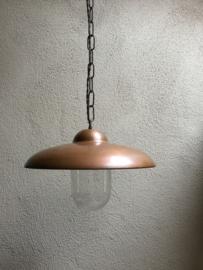 Koperen hanglamp stallamp Tierlantijn Tasni koper plafondlamp met ketting en glazen stolp