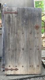 5 stuks Oude vergrijsd houten Chinese deur deuren poort poorten wandpaneel decoratie renovatie Luiken Wandpaneel tafel tafelblad luik paneel stoer landelijk met origineel oud beslag