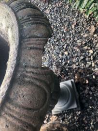 Grote gietijzeren grijs bruin tuinvaas pot bak bloembak B-KEUZE