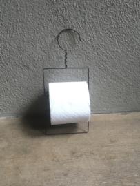 Landelijke draadijzeren toiletrolhouder draadijzer vintage toiletpapier wcrolhouder