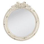 Prachtige houten ronde spiegel rond oud oude look stoer landelijk