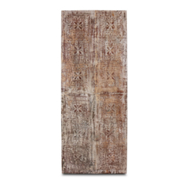 Gaaf metalen wandpaneel groot wanddecoratie luik 190 x 77 cm deur ijzer metaal paneel landelijk stoer vintage