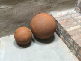 Decoratie bol roest metaal 30 cm Tuindecoratie kogel bal ballen bollen