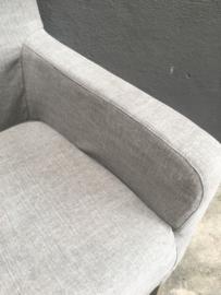 Linnen stoel eetkamerstoel met armleuning en losse hoes hoezen fauteuil stoelen landelijk stoer