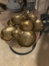 Hele gave grote schaal koper/brons kleur tapas tapasschaal hapjes