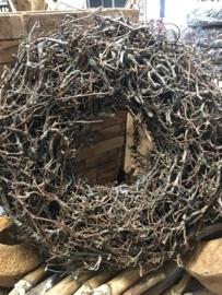 Stevige bonsai krans naturel landelijk doorsnede 45 cm