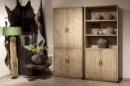 Grote licht houten 4 deurs kast landelijk stoer robuust vergrijsd 230 x 100 x 45 cm