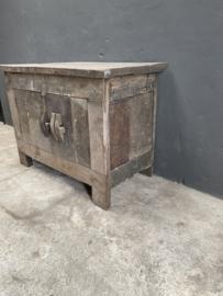 Oud houten televisiekast audio tvkast sidetable dressoir landelijk vintage industrieel stoer oud hout