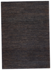 Groot handgewoven 100 % hennep vloerkleed kleed carpet karpet charcoal 140 x 200 cm