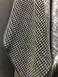 Prachtige zwart grijze handdoek gastendoekje gastendoekjes theedoek doek 70 x 50 cm