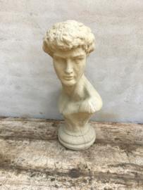Groot betonnen borstbeeld buste torso man buste beton landelijk
