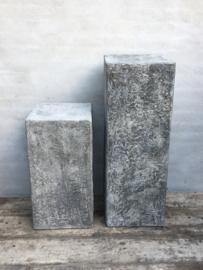 Betonnen sokkel betonlook polyester hars pilaar kolom 100 cm tuin buiten & binnen grijs grijze