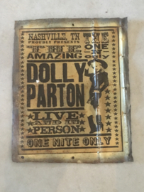 Metalen reclame platen plaat reclamebord country Nashville  Dolly parton vintage retro industrieel