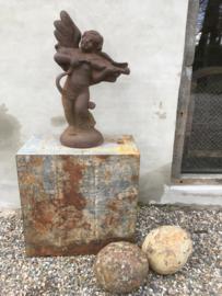 Groot gietijzeren beeld tuinbeeld engel gietijzer 90 cm angel