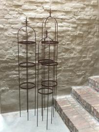 Set van 3 Smeedijzeren ornament obelisk obelisken 150-160-170 cm tuinsteker tuinornament klimrek rek klimplant