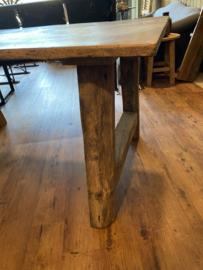 Set eikenhouten tafelpoten ongeveer 10x10cm hoogte 72cm breedte onder ongeveer 84cm