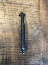 Zware kwaliteit gietijzeren zwarte deurknop zwart handgreep greep oneven strak beugel handvat  klink deurklink