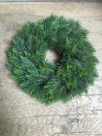 Dennenkrans dennentakken krans groen kerst imitatie kunst landelijk brocant 25 cm