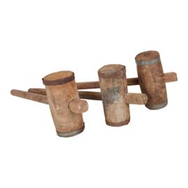 Oude houten hamer landelijk stoer industrieel