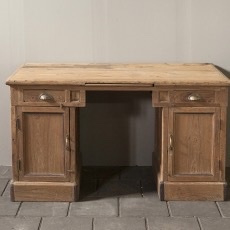 Geleefd authentiek houten bureau buro schrijftafel Sidetable kantoor werkplek werkbank dressoir landelijk stoer industrieel 137 X 68 X H77 cm