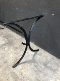 Smeedijzeren tafelonderstel ijzer metaal metalen tafel poot voet tuintafel 180 x 70 cm 74 cm hoog