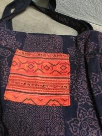 Hippe kleurrijke schoudertas van Ibiza bag vintage bohemian