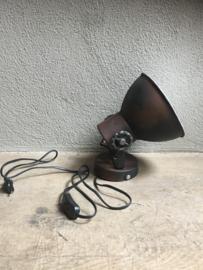 Industriële metalen spotje spot spots spotjes hanglamp wandlamp plafondlamp 1 roestbruin bruin bruine kap spot spot plafondlamp plafoniere metaal verstelbaar landelijk stoer vintage