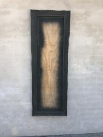 Grote Zwarte antraciet houten lijst groot landelijk stoer oude omlijsting van spiegel