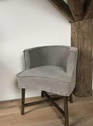 Prachtige linnen stoel stoelen eetkamerstoelen linnen grijs of taupe model Kaatje Caatje ( lijkt op Dirk Dirkje )  fauteuil landelijk stoer robuust sober losse hoes