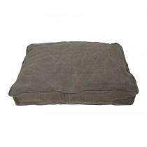 Stoer groen grijsgroen canvas kussen 60 x 60 cm kussentje hondenkussen zitkussen kussens kussentjes ruw industrieel grof grove stof vintage landelijk
