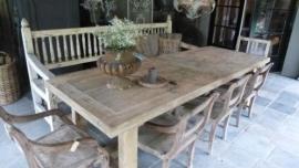 Grote boeren eettafel oud grenen tafel landelijk stoer robuust 300 x 100 cm