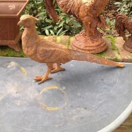 Gietijzeren fazant tuinbeeld beeld wild gietijzer tuinornament