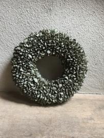 Bakuli wreath krans beukennootjes old green vergrijsd 40 cm grijsgroen beuk landelijk