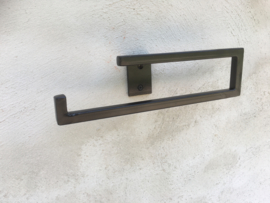 landelijke metalen smeedijzeren gietijzeren toiletrolhouder industrieel strak simpel eenvoud metaal eenvoud eenvoudige strak strakke handdoekhouder haak beugel grijsbruin wcrolhouder