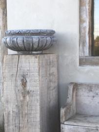 Massieve betonnen schaal bak tuinvaas landelijk beton stoer