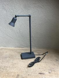 Loodkleur grijze leeslamp tafellamp lamp lampje Tierlantijn Sirmione led halogeen stoer landelijk industrieel