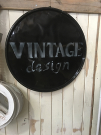 Metalen reclame platen plaat reclamebord Vintage design wandplaat Wandpaneel grijs zwart wit dienblad olievat deksel reclameplaat vintage retro industrieel