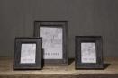 Zwart houten fotolijst fotolijstje black finish vergrijsd fotomaat 30 x 20 cm groot large