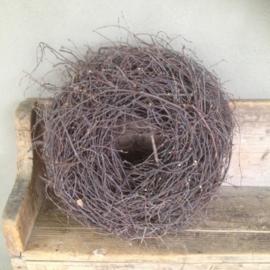 Stoere wilde takken krans nestkrans twig naturel 55 cm landelijk naturel