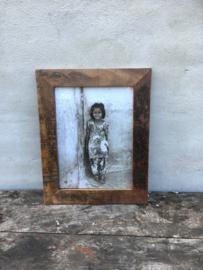 Stoer sloophouten lijst lijstje fotolijstjes Fotolijstje oud hout landelijk vintage industrieel oude houten fotolijst A4