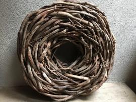 Stoere krans naturel 50 cm thick crazy vine rough robuust stoer grof landelijk