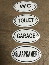 Nostalgische deurbordjes deurbordje bordje plaatje entree kelder wc toilet garage slaapkamer badkamer garderobe
