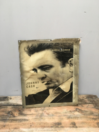 Metalen reclame platen plaat reclamebord johnny cash robert hilburn vintage retro industrieel