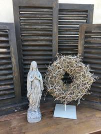 Grijs betonnen Maria beeldje mariabeeldje mariabeeld grijs beton