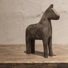 Oud vergrijsd houten paardje paard groot ornament patine patina hout  horse decoratie landelijk
